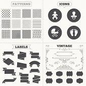 image of buggy  - Seamless patterns - JPG