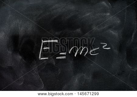 Einstein Relativity Formula E=mc2 On