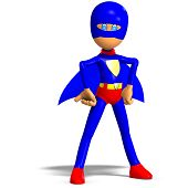funny cartoon super hero