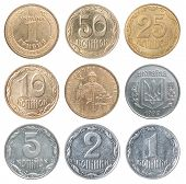 Постер, плакат: Full Set Of Ukrainian Coin