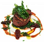 pic of chateaubriand  - Tenderloin steak isolated on the white background - JPG