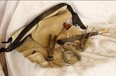 image of brahma-bull  - a group of Horseshoeing tools on display - JPG