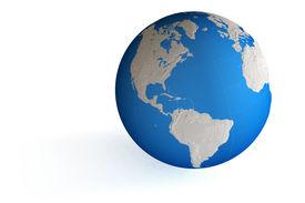 foto of world-globe  - World globe isolated over a white background - JPG