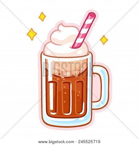 Cute Cartoon Root Beer Float