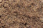 Top View Flat Lay Of Natural Brown Sugar Or Unrefined Sugar. Organic Brown Sugar With Close Up View  poster