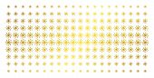 Galaxy Icon Gold Halftone Pattern. Vector Galaxy Items Are Arranged Into Halftone Array With Incline poster
