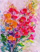 Oil Painting, Impressionism Style, Flower Painting, Still Painting Canvas, Artist, Painting, poster