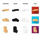 Case, Shell, Framework, And Other  Icon In Cartoon, Black, Outline, Flat Style.box, Container, Packa poster