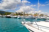 Calvia Puerto Portals Nous luxury yachts in Majorca Balearic Island from Spain