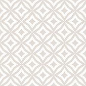 Subtle Abstract Floral Seamless Pattern. Vector White And Beige Background. Simple Geometric Ornamen poster