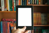 E-book In Hand Mockup poster