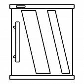 Mini Refrigerator Icon. Outline Illustration Of Mini Refrigerator Vector Icon For Web Design Isolate poster