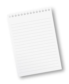 picture of stenography  - Torn off sheet of a note pad with lines - JPG