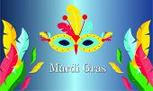 Mardi Gras Carnival Party Design. Fat Tuesday, Carnival, Festival. Vector Illustration poster