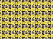 Poly Art Grid Geometric Seamless Vector Background. Hypnotic Polygon Triangles Geometric Bauhaus Des poster