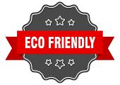 Eco Friendly Red Label. Eco Friendly Isolated Seal. Eco Friendly poster