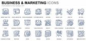 Simple Set Business And Marketing Line Icons For Website And Mobile Apps. Contains Such Icons As Vis poster