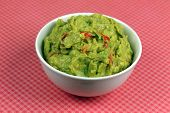 Bowl of Spicy Guacamole poster