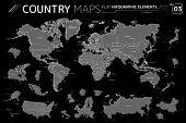 America, Asia, Africa, Europe, Australia, Oceania, Canada, Usa, Mexico, Japan, Russia, China, Brazil poster