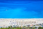 A View From Above Of The Famous Myrtos Beach On Kefalonia, One Of The Most Idyllic Beaches Of The Gr poster
