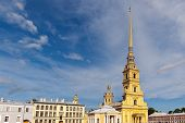 pic of sankt-peterburg  - cathedral in the Peter and Paul Fortress Sankt - JPG