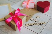 Beautiful Gift Boxes For Birthday, Valentines Day, March 8, Mothers Day And Other Holidays. A Box Sh poster