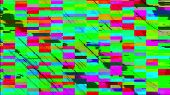 Computer Generated Glitch. Pixel Multi-colored Zigzags Noise. 3d Rendering Video Error poster