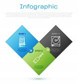 Set Line Karaoke , Vinyl Player With A Vinyl Disk And Champagne Bottle . Business Infographic Templa poster