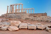 image of poseidon  - Ancient Greek temple of Poseidon  - JPG