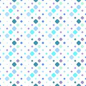 Diagonal Square Pattern Background - Abstract Colorful Vector Illustration From Squares poster