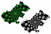 Satu Mare County (administrative Divisions Of Romania, Nord-vest Development Region) Map Is Designed poster