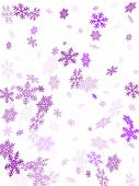 Snow Flakes Falling Macro Vector Illustration, Christmas Snowflakes Confetti Falling Scatter Backdro poster
