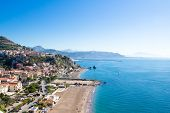 View Of Vietri Sul Mare, A Little Town Considered To Be The Gateway To The Amalfi Coast, Italy poster