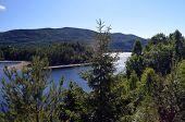 Lake Tinn in the mountains in Norway, Scandinavia poster
