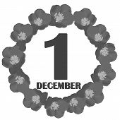 December 1 Icon. For Planning Important Day. Banner For Holidays And Special Days. December First Ic poster