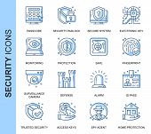 Thin Line Security Related Vector Icons Set For Website And Mobile Site And Apps. Outline Icons Desi poster