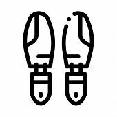 Shoe Sole Detail Icon Vector. Outline Shoe Sole Detail Sign. Isolated Contour Symbol Illustration poster