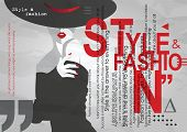 Fashion Girl In Styke Pop Art. Retro Fashion. Fashion Illustration. poster