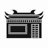 Vector Design Of Temple And Hanoi Symbol. Set Of Temple And Vietnamese Vector Icon For Stock. poster