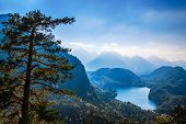 Alpsee valley Bavarian alps, Fussen,  Germany