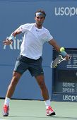 Twelve times Grand Slam champion Rafael Nadal during third round singles match at US Open 2013