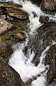 stock photo of ural mountains  - Wild River Zhigalan on the ridge Kvarkush to the north of the Ural mountains - JPG