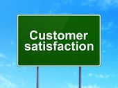 Advertising concept: Customer Satisfaction on sign background