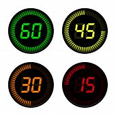 image of countdown timer  - Digital Countdown Timer on white background - JPG