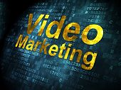 Finance concept: Video Marketing on digital background