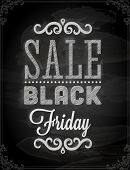 Black Friday Calligraphic Chalkboard Design, Chalk Texture