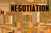stock photo of negotiating  - Negotiation in Business as a Abstract Concept - JPG