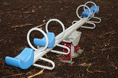 stock photo of baby spider  - handles on kids playground for child and baby  - JPG