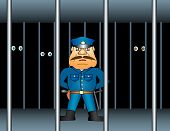 stock photo of atonement  - Prison proctor or policeman - JPG