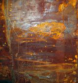 picture of oxidation  - Rusty weathered surface on corroded metal with the typical red coloured iron oxides caused by exposure to moisture abstract background texture and pattern - JPG